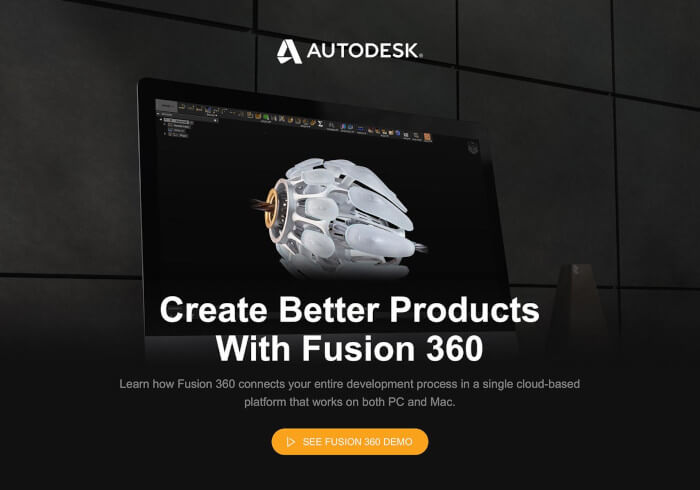 Autodesk website, desktop view
