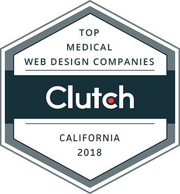 Clutch Award - Top Medical Web Design Companies (California 2018)