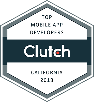 Clutch Award - Top Mobile App Web Design Companies (California 2018)