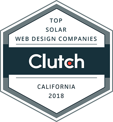 Clutch Award - Top Solar Web Design Companies (California 2018)