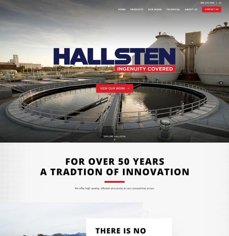 Hallsten website, home page