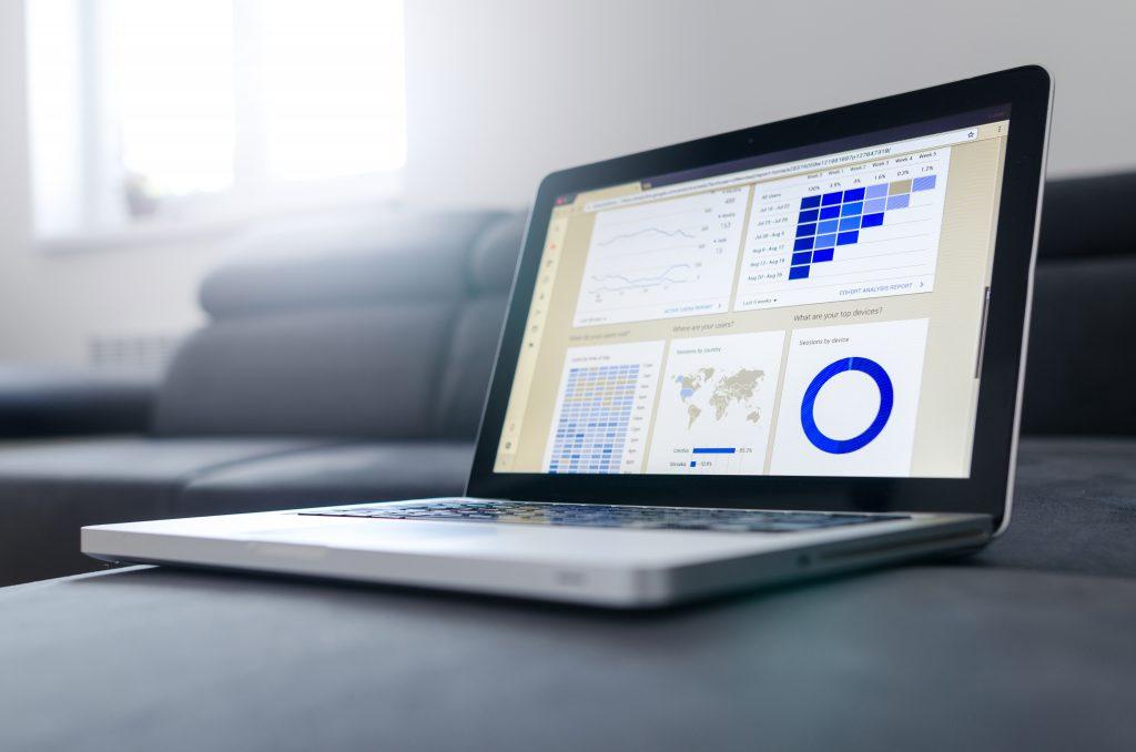 MacBook With Website Statistics | Photo Credit: Lukas Blazek